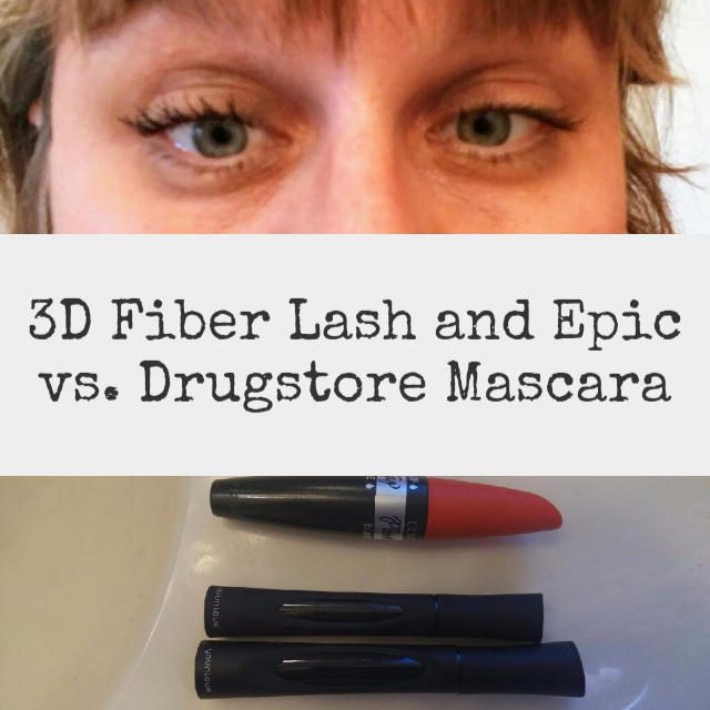 4a51efbdeeb Younique 3D Fiber Lash Mascara and Epic Mascara vs. Drugstore Mascara.