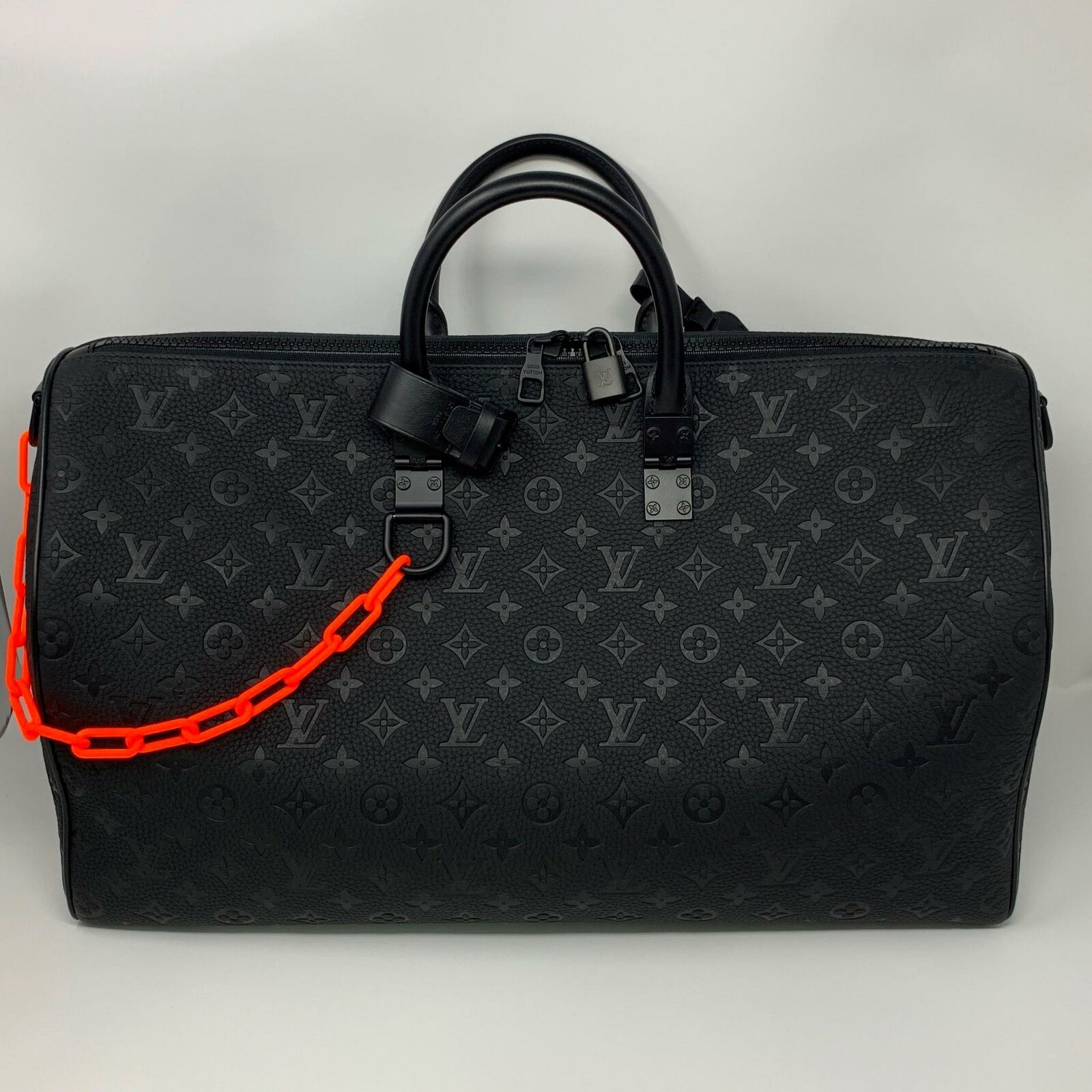 ca437b2618 Louis Vuitton x Virgil Abloh Keepall BLACK Taurillion embossed ...