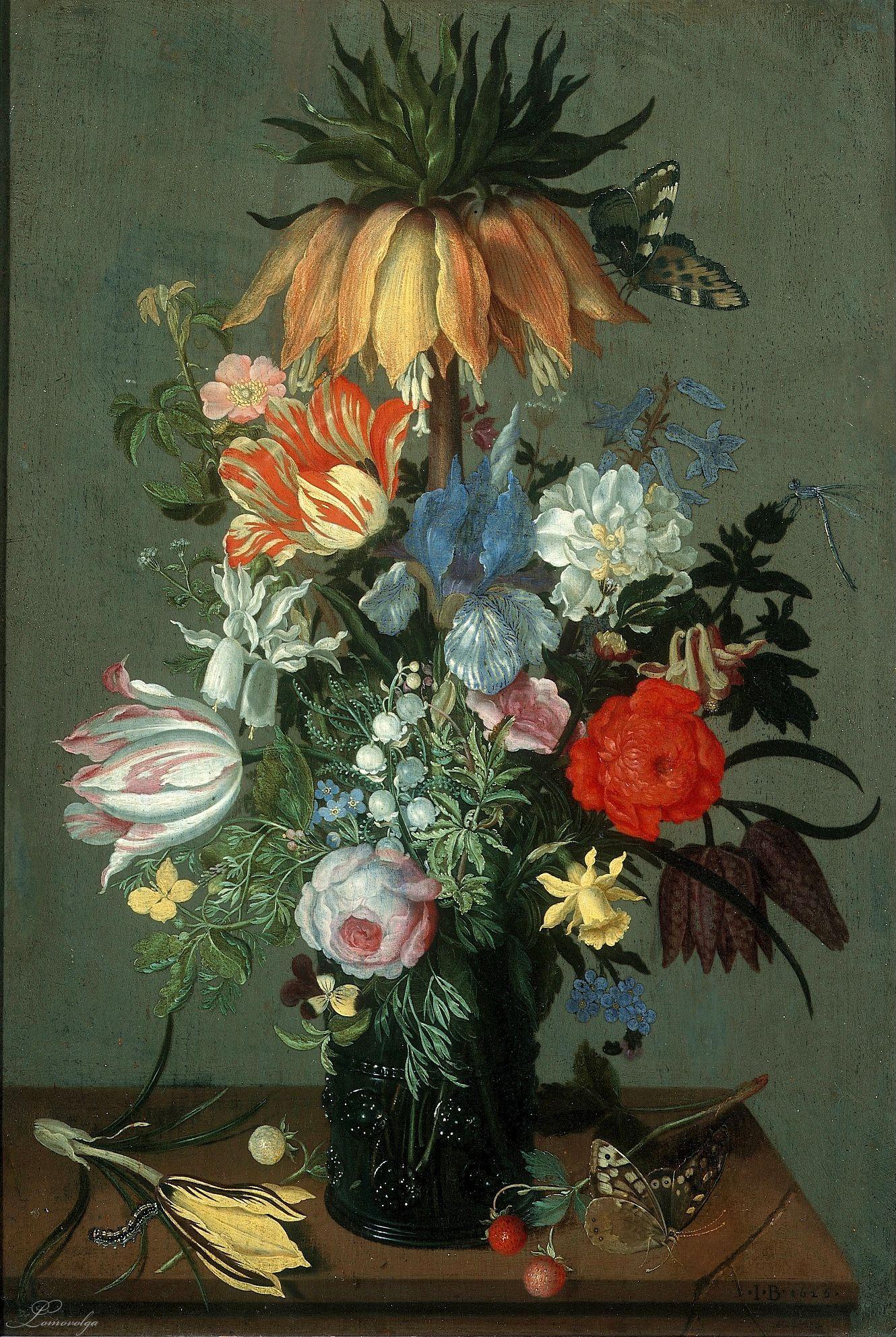 Johannes Bosschaert (1606/08-1628/29) — Flower Still Life with Crown Imperial