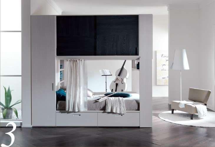 Camere da letto matrimoniali a ponte - Una camera da letto in un cubo
