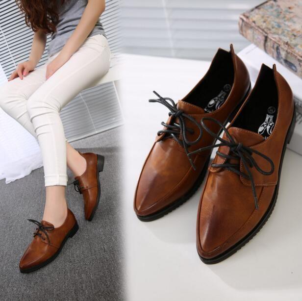 Zapatos granate de verano con cordones vintage para mujer nF1Wg1Hd4