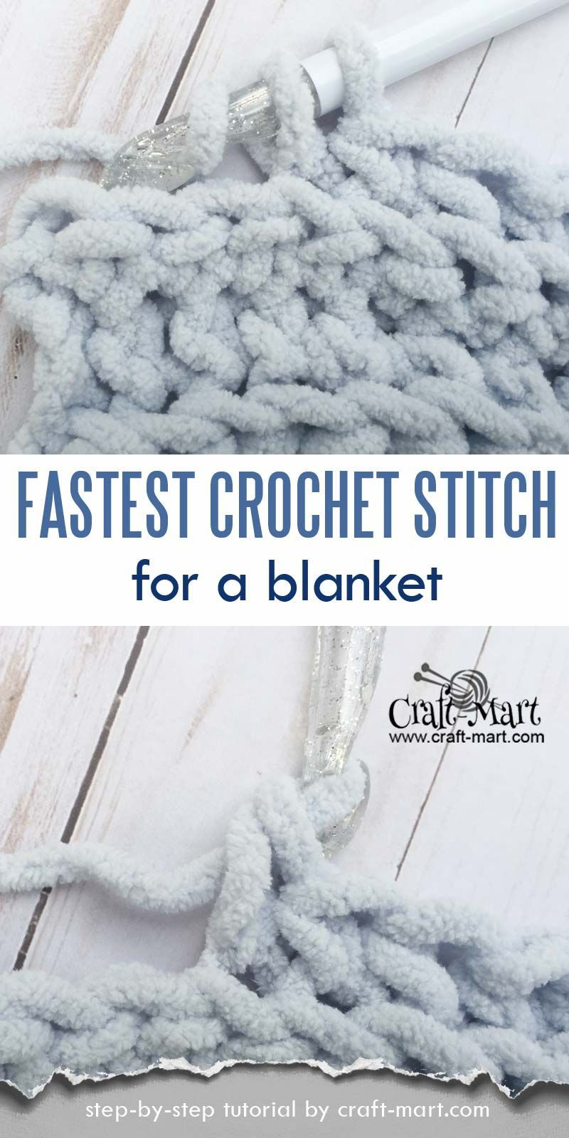 Crochet blanket patterns 405253666470873646 -  Simple and easy crochet blanket tutorial (FREE Bernat blanket yarn pattern) – Craft-Mart Source by bitta65 #singlecrochet