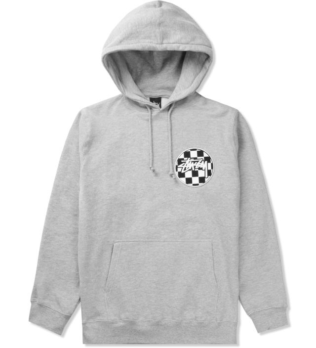 c94e4aa6 Stussy Heather Grey Checks Stock Pullover Hoodie | HYPEBEAST Store. Shop  Online for Men's Fashion, Streetwear, Sneakers, Accessories