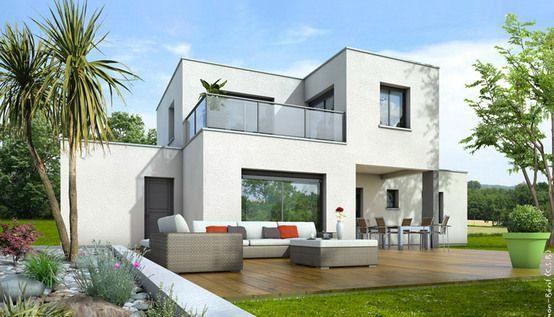 Plan maison toit plat Opaline Maison Pinterest Opaline and Villas