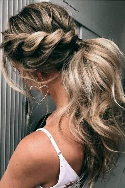 Clip in Ponytail Human Hair Extensions Brown Highlighted Lightest Blonde #6/60