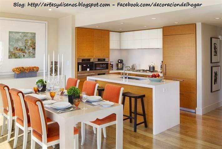Como ubicar la cocina y el comedor unidos dise o y for Diseno cocina comedor
