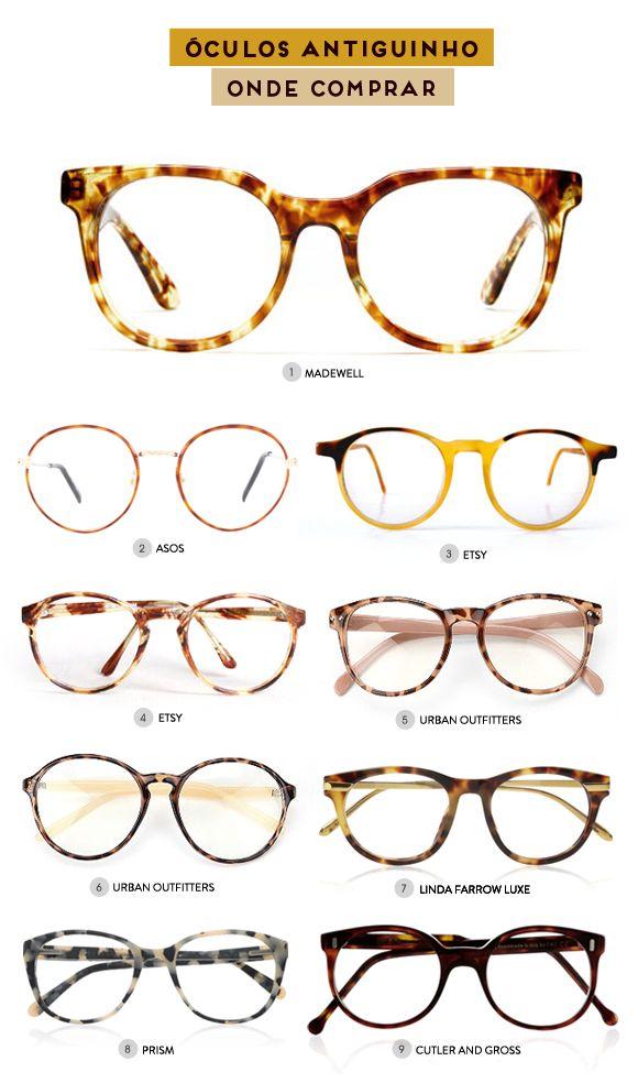 Óculos antiguinhos - onde comprar