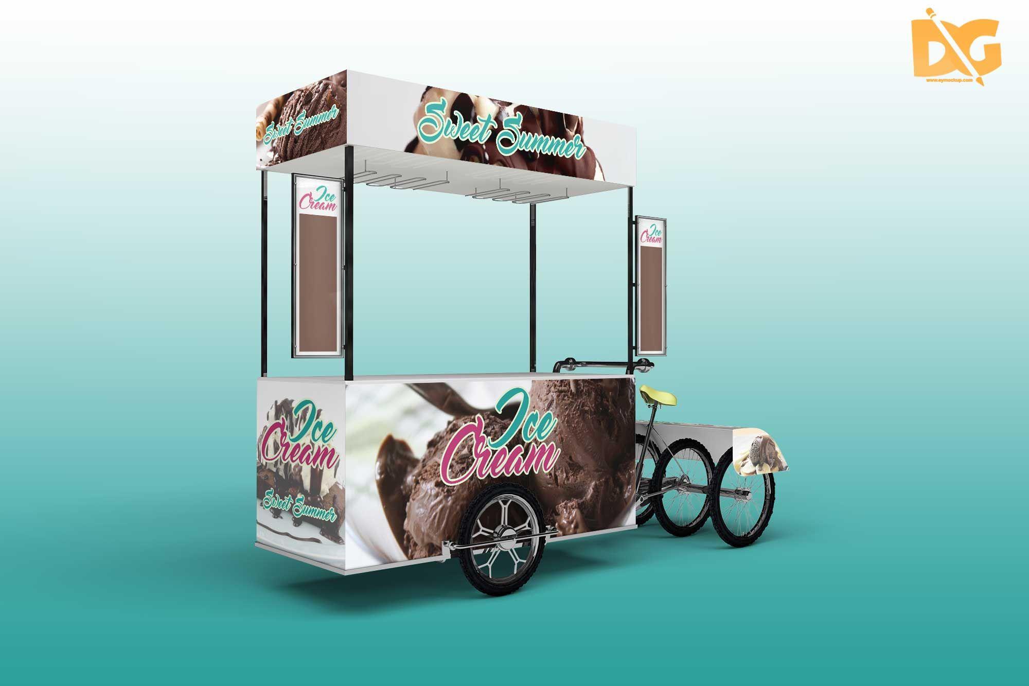 Download Awesome Ice Cream Cart Mockups Mockup Free Psd Logo Design Mockup Logo Mockups Psd