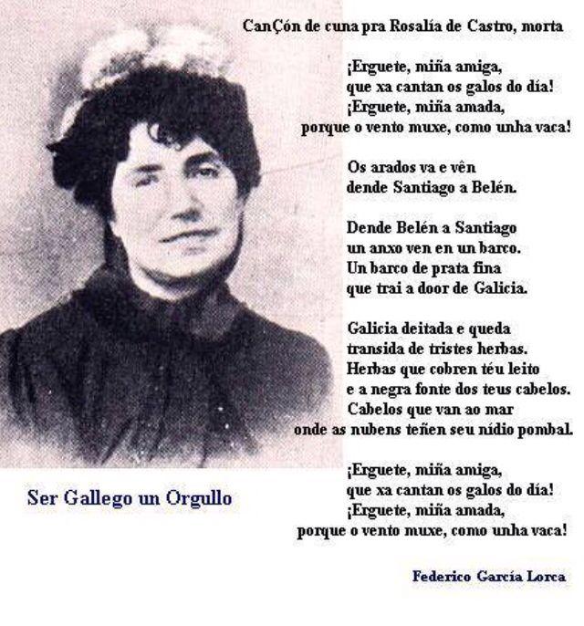 Poema A Rosalía De Castro Poemas Poesía Español