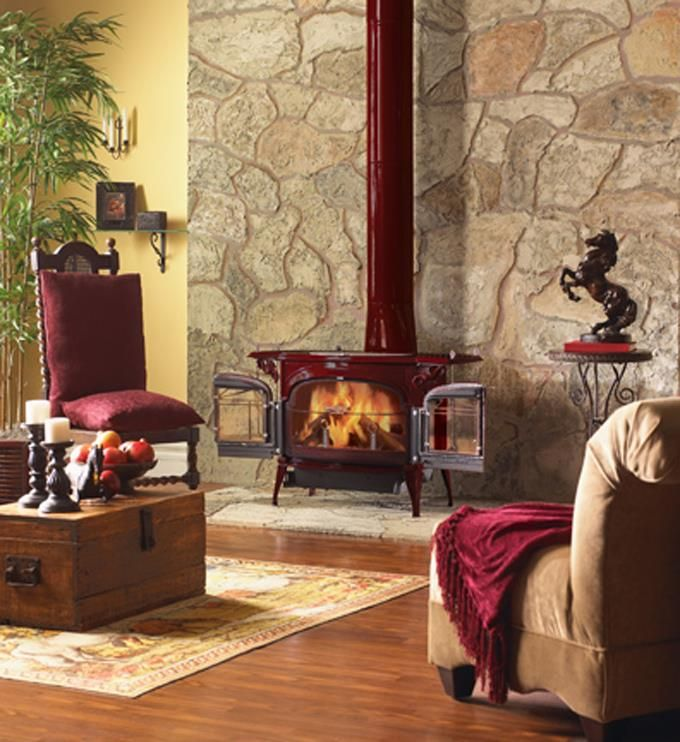 Traditional Living Room Photo By Majestic Homeclick Community Home Fireplace Wood Stove Vermont Castings Wood Stove