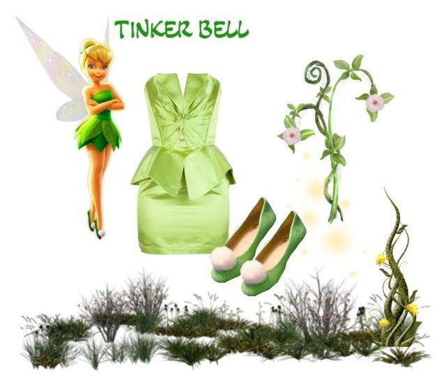 """Tinker Bell"" by goddess-of-moonlight ❤ liked on Polyvore featuring moda ve Thierry Mugler"