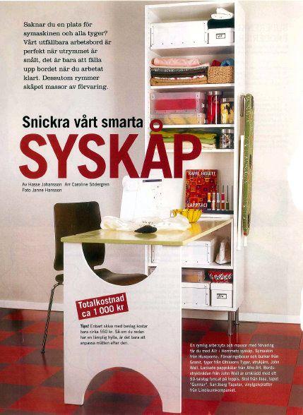 Gr ett syskp  Syskp  Smart furniture Craft station