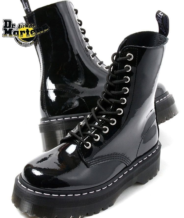 Dr Martens Women S 1490 Aggy Agyness Deyn Black Patent Lamper Us 10 Eu 42 Uk 8 Boots Martens Me Too Shoes