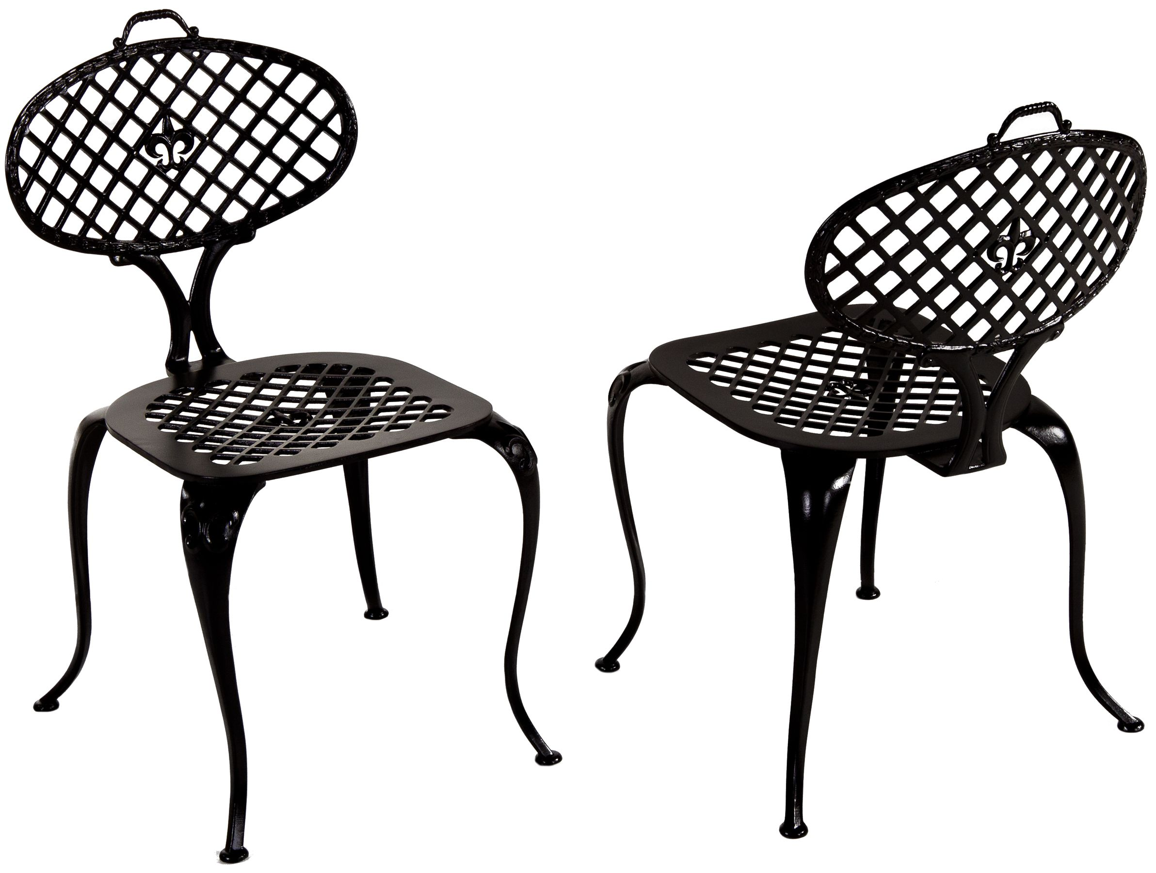 Restored Cast Aluminum Bistro Chairs By Thinline