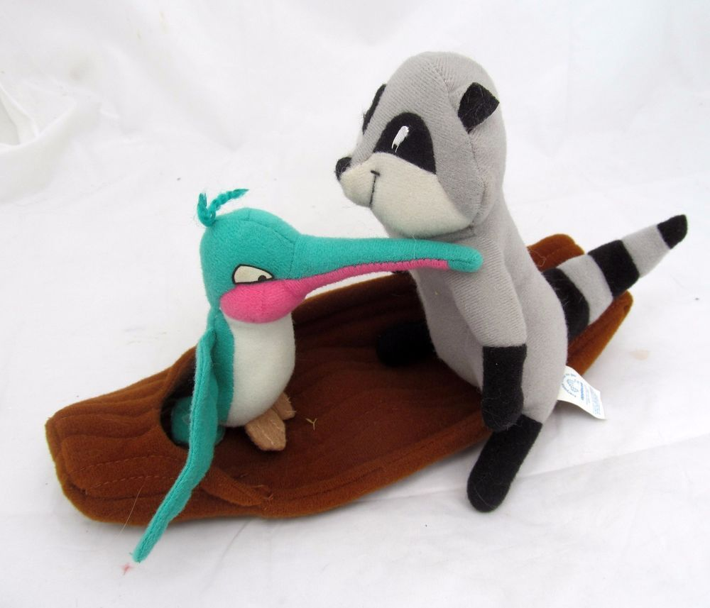 Disney Pocahontas FLIT & MEEKO Canoe Boat Plush Toy