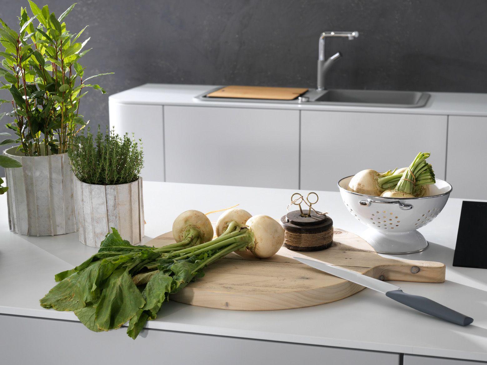 Küche | Lack | modern | klare Linien | grifflos | weiß | in ...