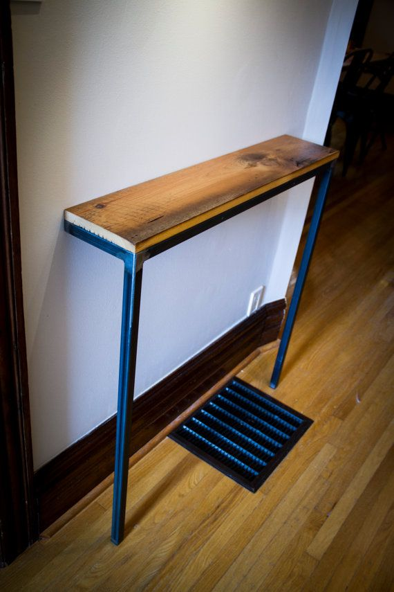 Barn Board Entrance Hall Table / Shelf  'Against The Wall Console' for under window etsy