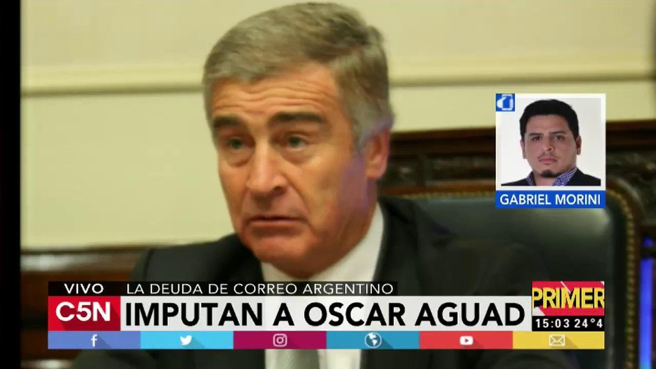 Imputaron al Ministro de Comunicación Oscar Aguad