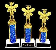 Single Column Custom Academics Trophy | spelling bee