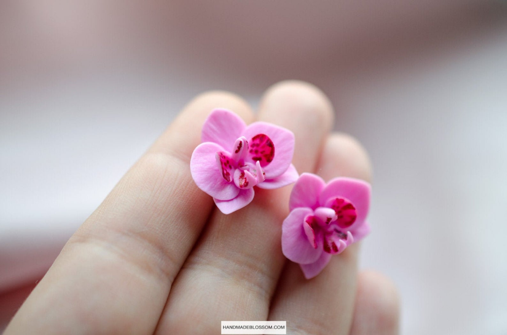 Pink Orchid Stud Earrings Flower Studs Phalaenopsis Pink Etsy Purple Wedding Jewelry Flower Studs Pink Orchids