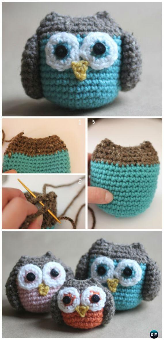 Crochet Owl Family Amigurumi Free Pattern-Amigurumi #Crochet Owl ...