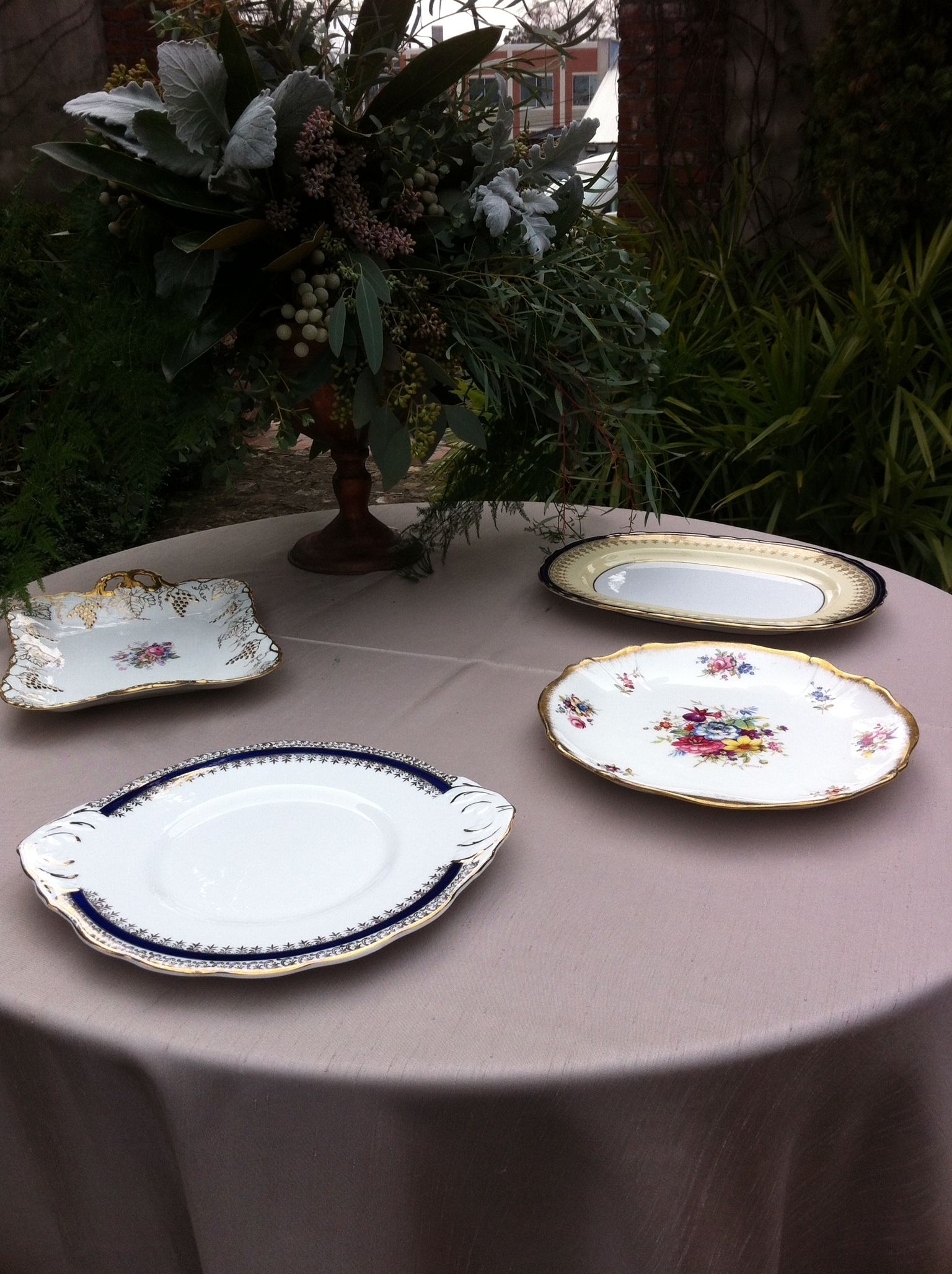 Dessert serving plates by # vintage english teacup & Dessert serving plates by # vintage english teacup | Tuscan inspired ...