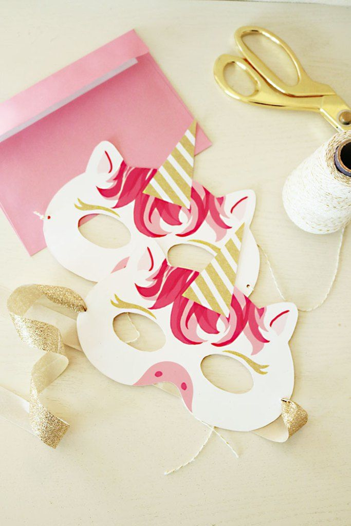 Unicorn Mask Printable Invitation from Free Unicorn