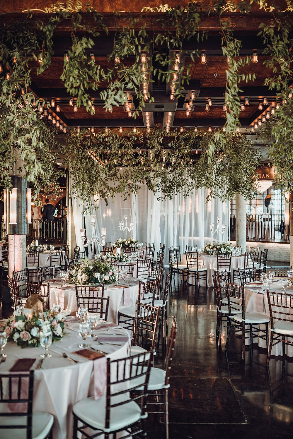 Dream Wedding with Ivy Floral Ceiling - Gorgeous Centerpiece Ideas