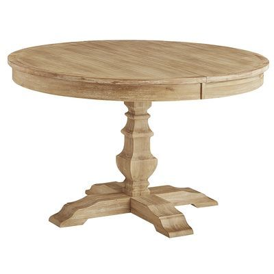 Bradding Natural Stonewash Round Extension Dining Table