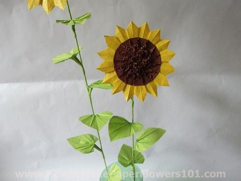 Origamisunflower62 Origami Sunflower Instructions Pictures Young