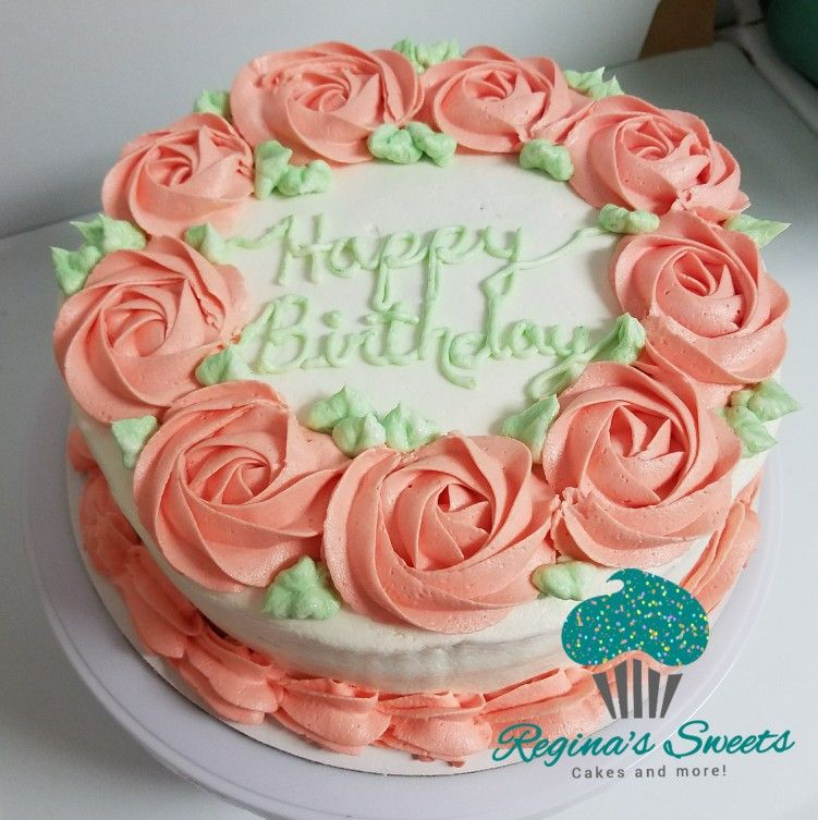 Girl Birthday Cake Big Flowers Buttercream My Cakes And Cookies