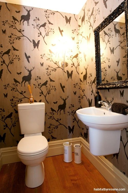 Hunting Party Bathroom Wallpaper Downstairs Toilet