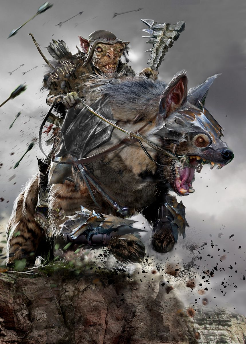 Goblin Charge By Uncannyknack Warg Worg Monster Beast Creature