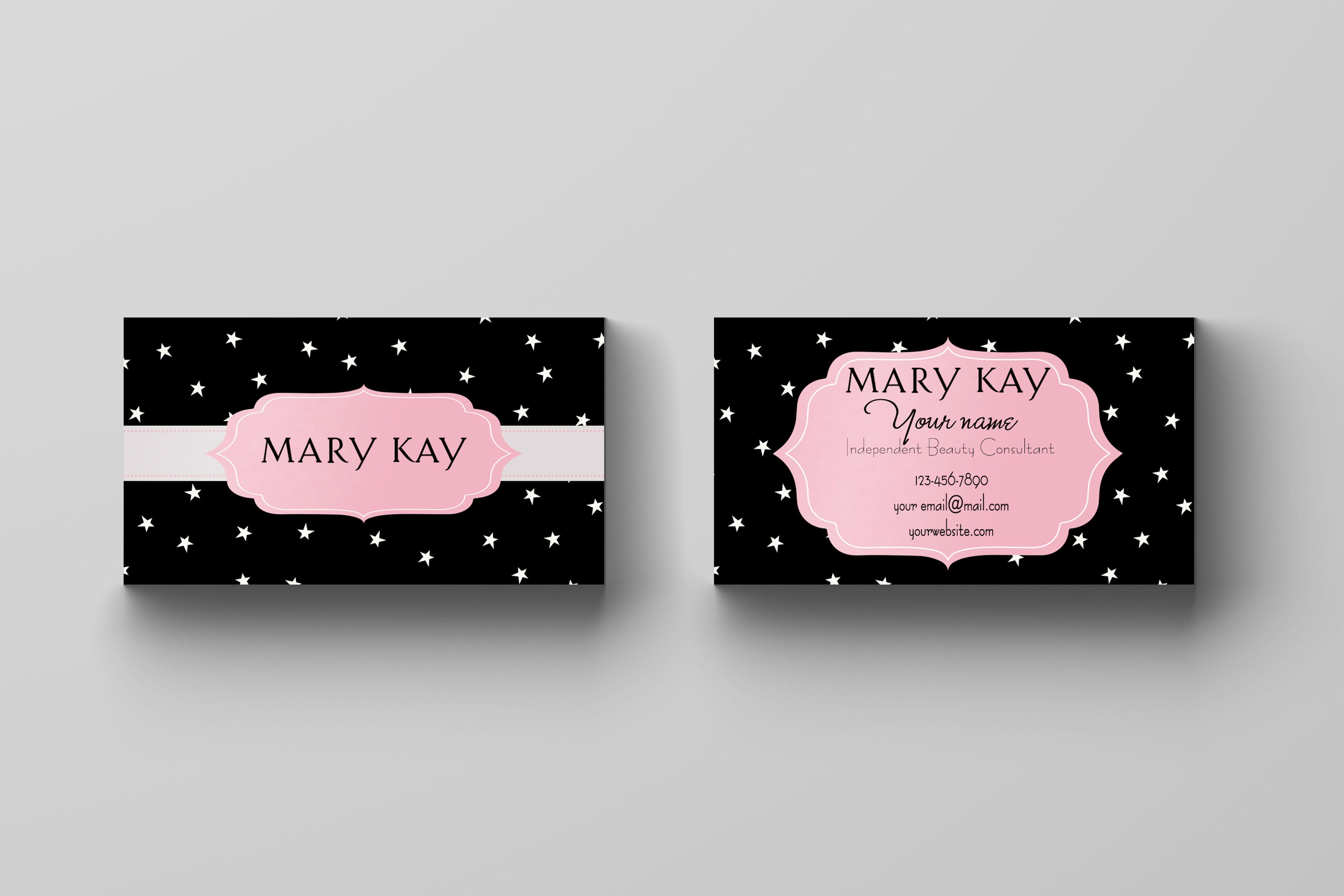 Mary Kay Business Card Stars Kakaodesigns Mary Kay Business Cards Mary Kay Business Mary Kay