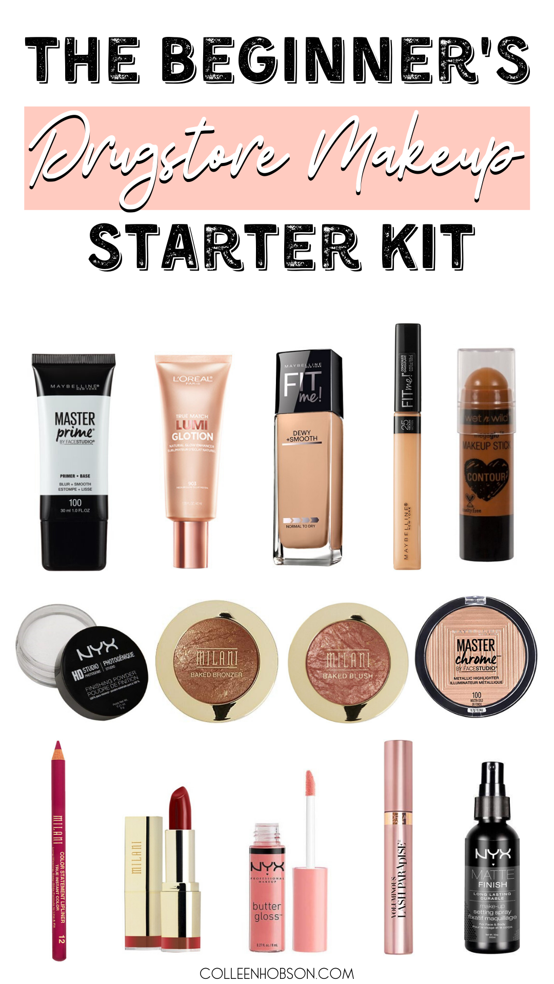 Drugstore Makeup Starter Kit For Beginners - Colleen Hobson