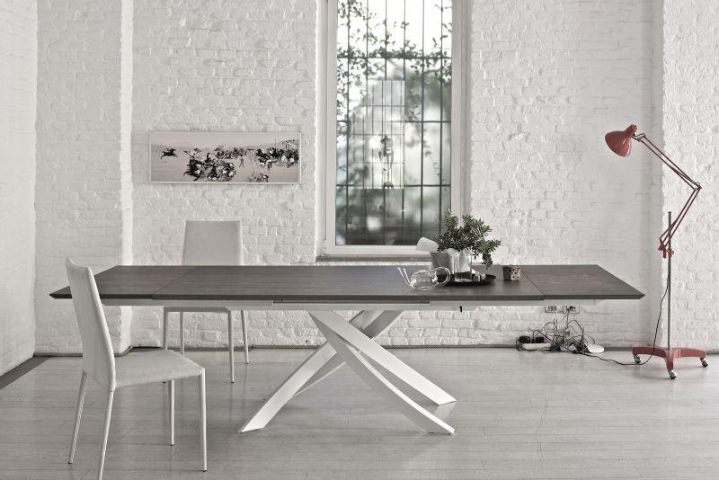 tavolo artistico legno 20.60 l.190 x p.106 cm. tavoli moderni ... - Tavolo Allungabile Legno Massello Moderno