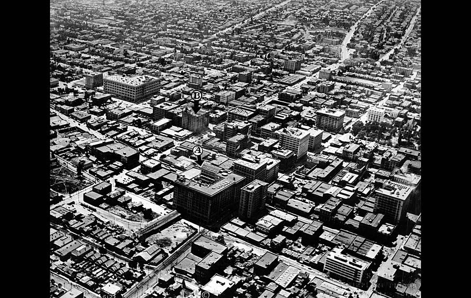 News From California The Nation And World Los Angeles Times Los Angeles History Aerial Photo Los Angeles