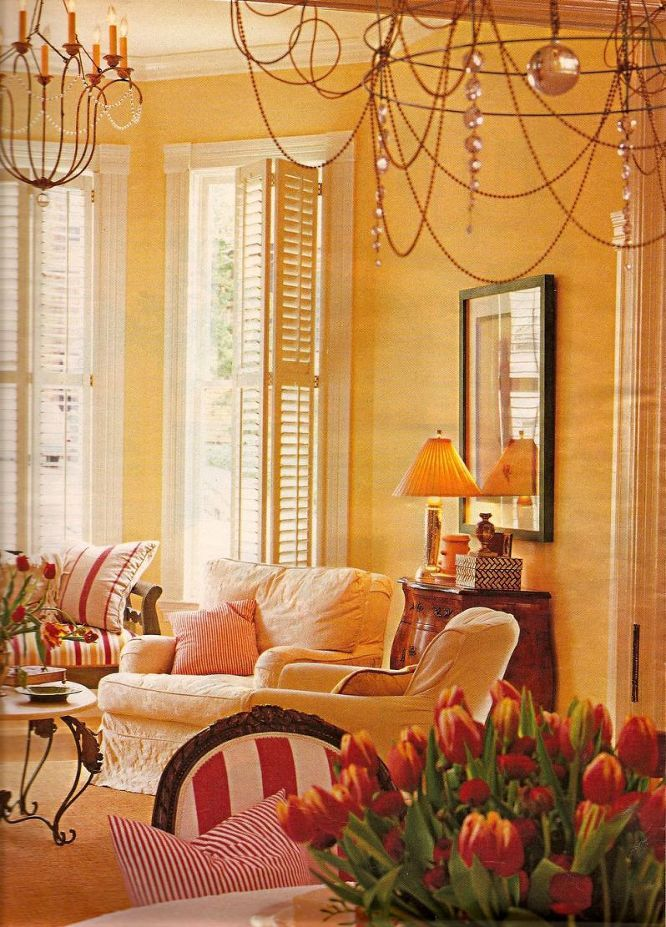 20 great shades of orange wall paint and coral apricot - Coral paint color for living room ...