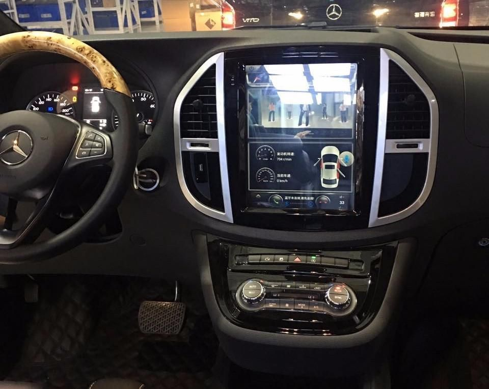 12 1 vertical screen android navi radio for mercedes benz. Black Bedroom Furniture Sets. Home Design Ideas