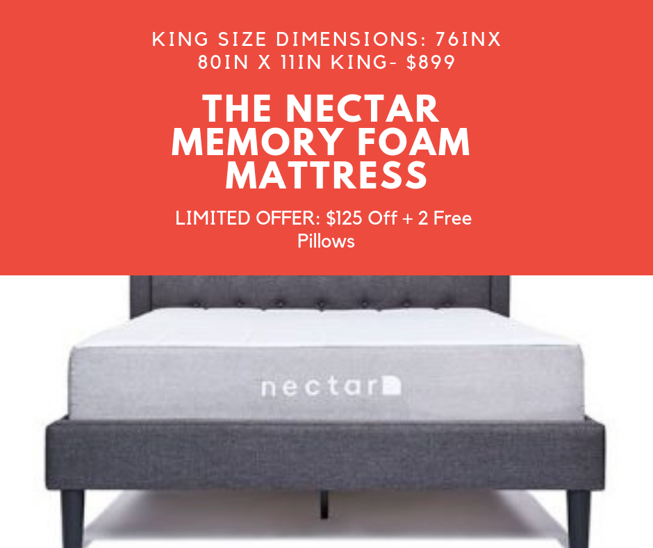 The Nectar Memory Foam Mattress Limited Offer 125 Off 2 Free