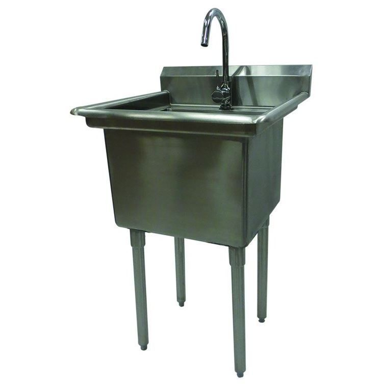 Trinity Stainless Steel Single Basin Utility Sink Stainless