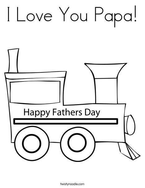 I Love You Papa Coloring Page Fathers Day Coloring Page Love