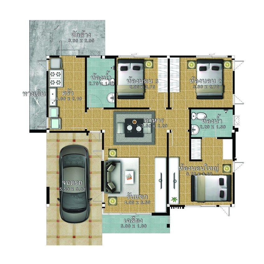 House Plans Idea 10x8 5 With 3 Bedrooms House Plans S Bungalow Floor Plans Home Design Plans Beautiful House Plans