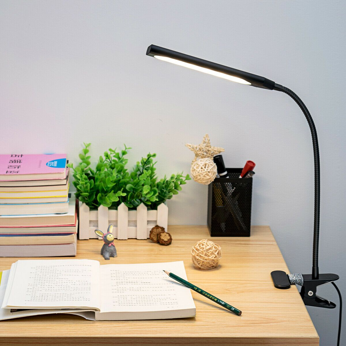 Led Usb Clip On Table Desk Lamp Flexible 3 Mode Reading Dimming Night Light Book Lamp Clip On Desk Lamp Desk Lamp