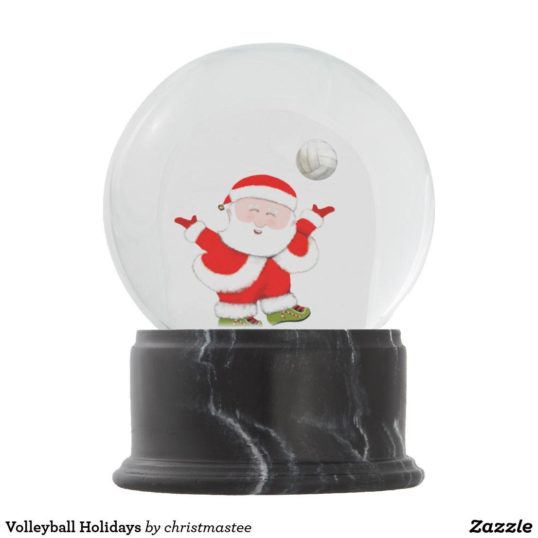 Volleyball Holidays Snow Globe Zazzle Com Holiday Snow Globe Snow Globes Special Christmas Gift
