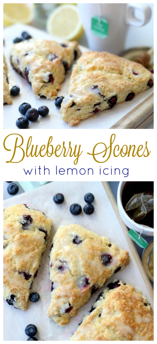 Blueberries, freshly squeezed lemons, and cold butter are the key ingredients to this deliciously l