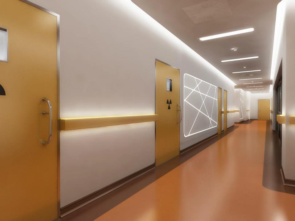 Hospital Corridor Lighting Design: LIV HOSPITAL ULUS-Hall-By Zoom/TPU