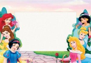 Tarjetas De Las Princesas De Disney Para Personalizar Guia De Manualidades Invitaciones De Princesas Disney Princesas Disney Princesas