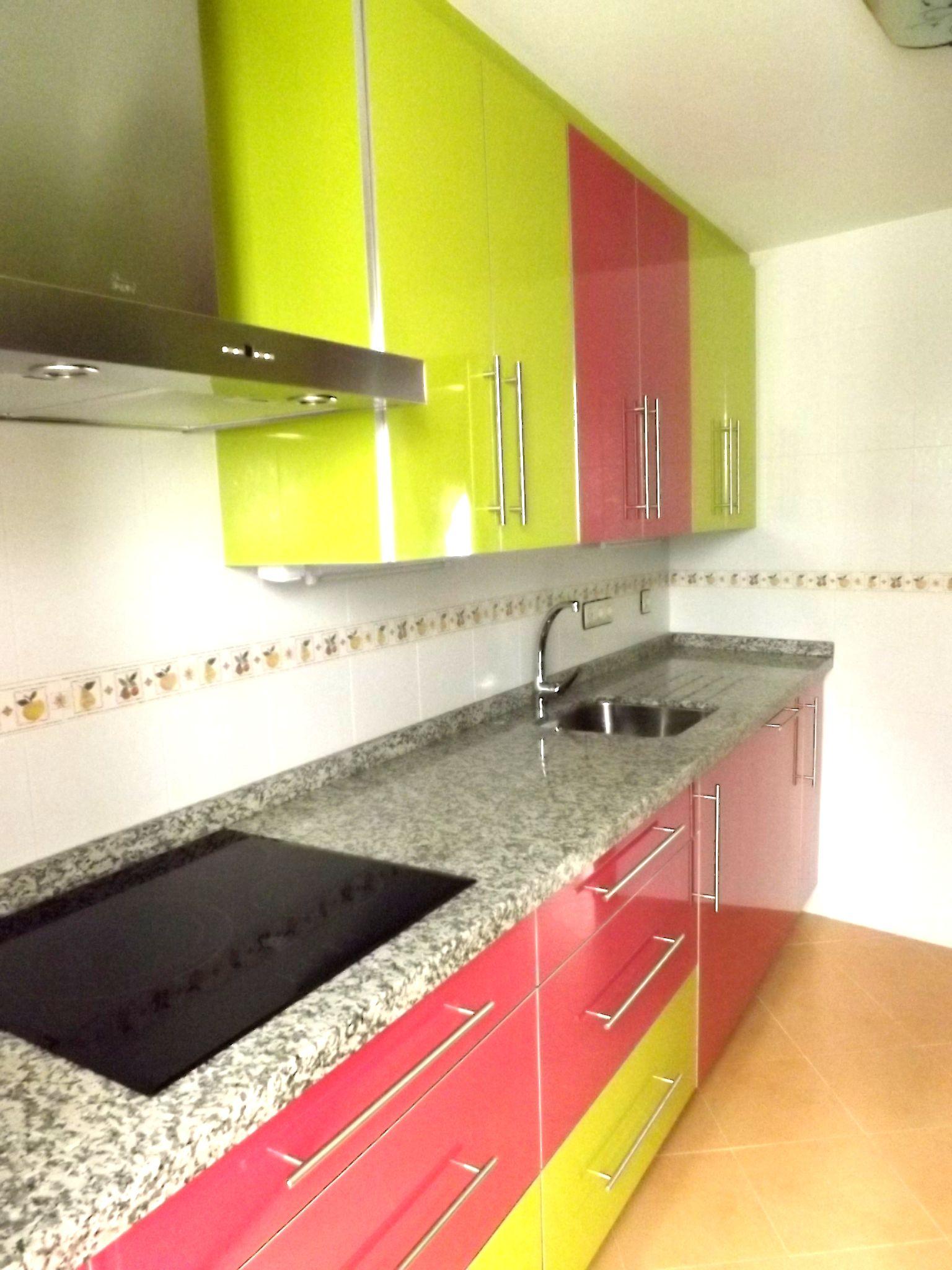 Cocina Verde Pistacho Y Rosa Muebles Dominguez Muebles  # Muebles Dominguez