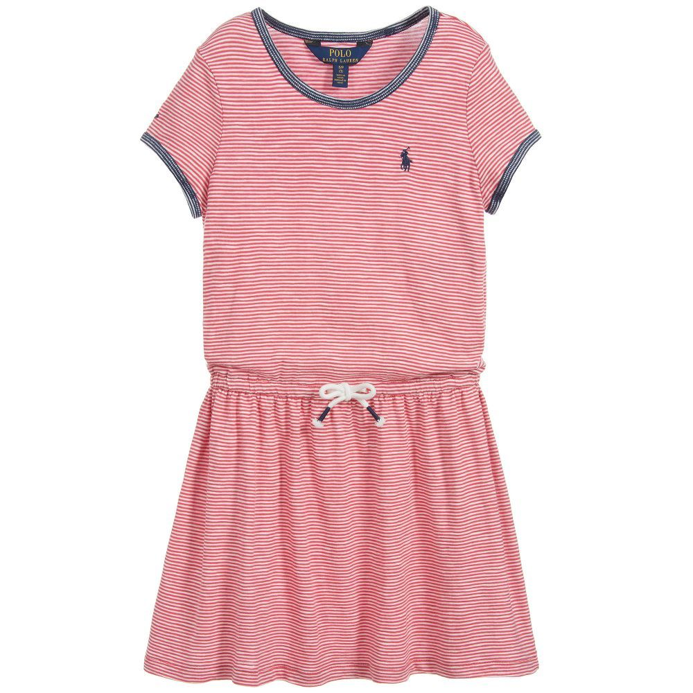 Striped Cotton Jersey Dress for Girl by Polo Ralph Lauren. http://www.couponchild.com/p/blog-page.html